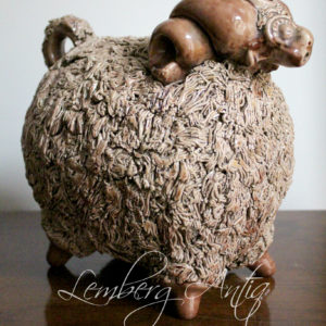 Скульптура, керамика «Барашек»