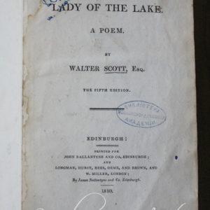"""Вальтер Скотт """"Діва озера"""" Лондон 1810"""