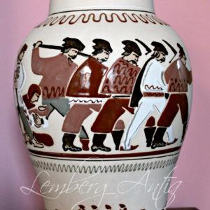Ваза керамическая «Казаки»