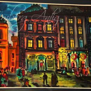 Михаил Демцю «Львов, Площадь Рынок» 1986 год