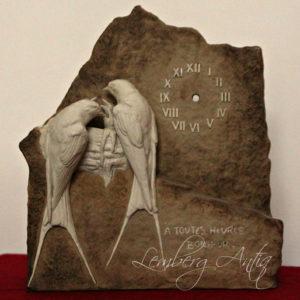 Фарфоровый корпус от часов. Скульптор Friedrich Gornik