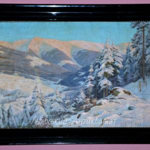"Artysta Paul Weimann ""Zimowy pejzaż"""