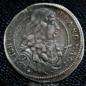 1/6 талера 1677 Иоганн Фридрих