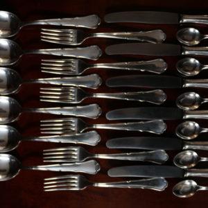 Срібний комплект на шість персон 20-30 ті роки 20-го століття.